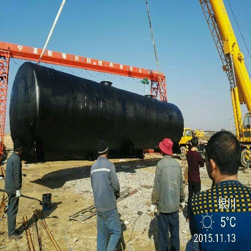 固原大型卧式油罐 恒银兴钢结构公司专业供应宁夏卧式