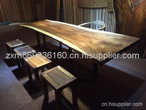 首页 家具摆设 餐厅家具 胡桃木茶桌茶几大板桌 全实木原生态创意家具