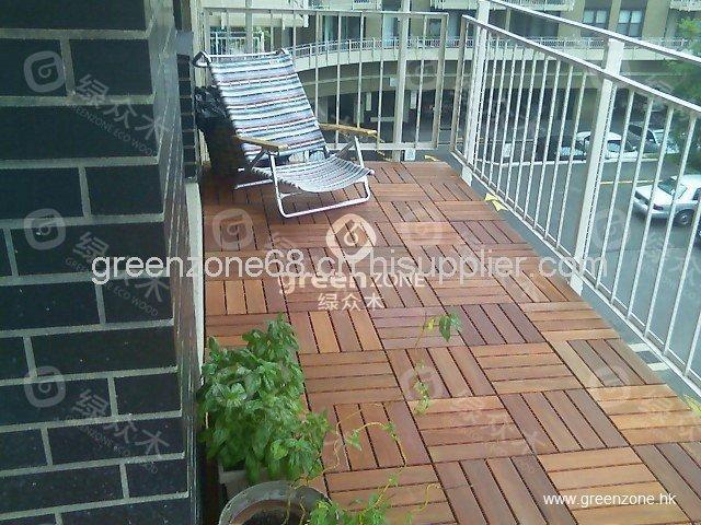佛山生态木家装阳台地板庭院地板园林木地板