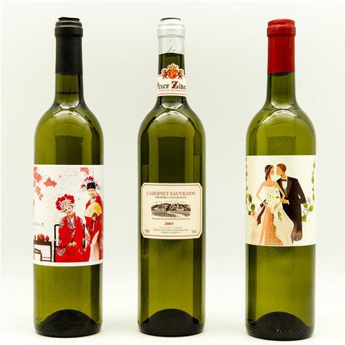 酒瓶个性艺术纸标签