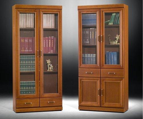 香樟木图书馆书柜定制