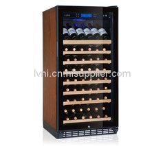 80支触摸屏压缩机单温恒温恒湿红酒柜葡萄酒实木展示架