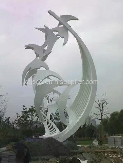 西安雕塑厂与青海西宁市第八中学签署合作圆满成功