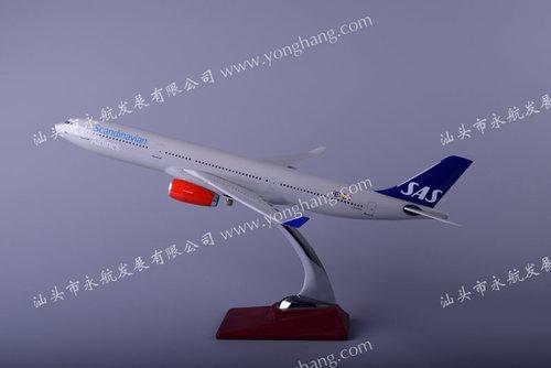 汕头永航厂家直销a330北欧树脂飞机模型32cm