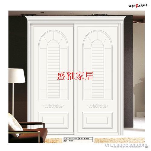 盛雅整体家居同色衣柜门 简欧式象牙白系列