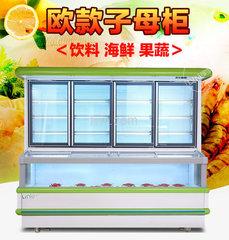 绿零超市便利店玻璃门展示柜 冷藏冷冻子母柜