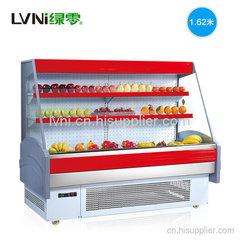 上海1.625米一体机水果风幕柜超市展示冷柜