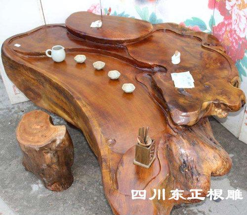 乌木根雕图片金丝楠木茶海价格楠木根雕茶桌