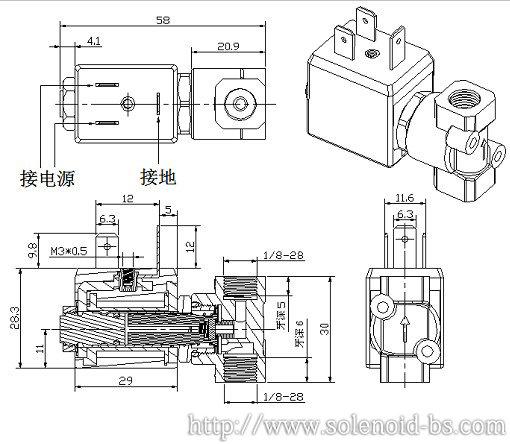 博顺电压力锅电磁阀,电磁气阀
