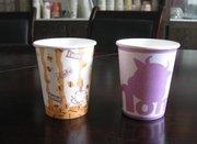 纸杯可用原材料,订做广告纸杯就找专业的厦门顺印纸杯厂