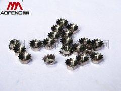 供应福州K帽螺母 齿轮螺母螺帽 高品质花齿螺帽 可定制K母