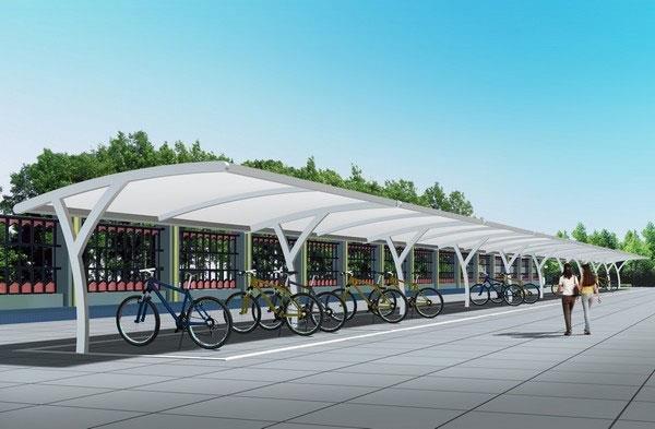 自行车车棚膜结构-海商网,其他建筑和装饰材料产品库