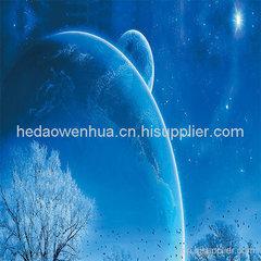 星空图案鼠标垫