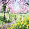 樱花图案鼠标垫