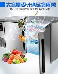 广州绿零标准款风冷厨房工作台不锈钢操作台商用保鲜冷冻冷藏冰柜冰箱
