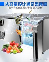 成都绿零标准款风冷厨房工作台不锈钢操作台商用保鲜冷冻冷藏冰柜冰箱