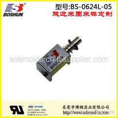 东莞电磁铁厂家直销12V直流式低功耗长时间通电的储物柜电磁锁推拉式