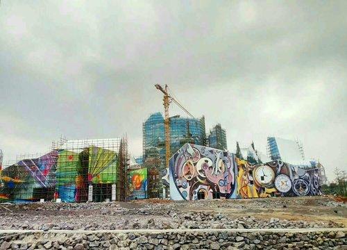 海南环球100墙绘总体效果