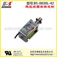 东莞电磁铁厂家供应直流电压6V和长时间通电的快递柜电磁铁推拉式