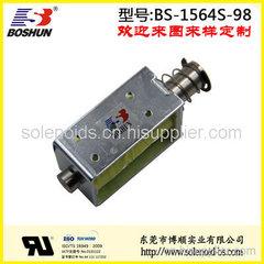 东莞博顺电磁铁厂家供应24V直流电压的高压配电柜电磁铁推拉式长行程