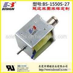 厂家供应推拉式电磁铁直流电压DC12V连续型咖啡机电磁铁长行程5mm