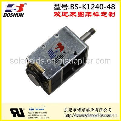 厂家供应抽烟烟机电磁铁推拉式长行程12mm用12V直流电压双向自保持式电磁铁