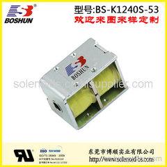 厂家供应长时间通电长寿命的家用电器电磁铁双向自保持式