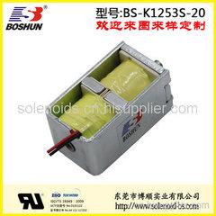 厂家直销电压24V直流式的双向自保持式医疗设备电磁铁推拉式长行程