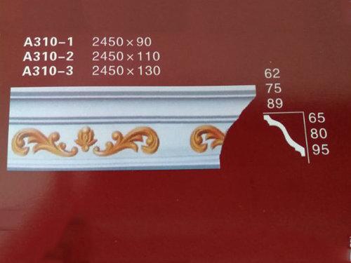 石膏线条的两种安装方法