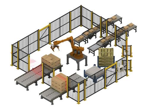 機器人紙箱碼垛生產線