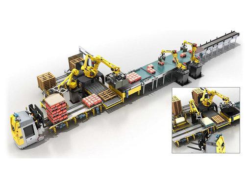 全自動包裝裝箱機器人