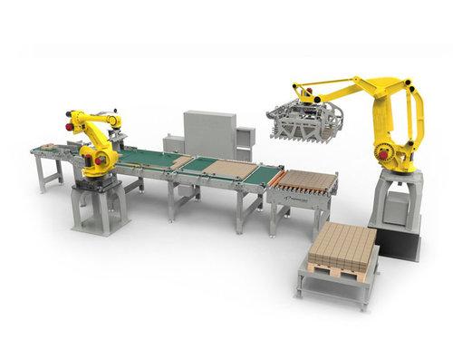 工业机器人码垛生产线