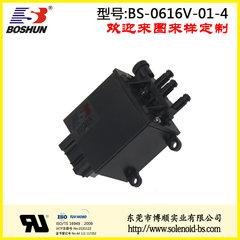 厂家供应可承受80Kpa气压的常闭型汽车座椅腰部支撑电磁阀四位五通式