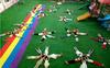 陕西幼儿园人造草坪施工