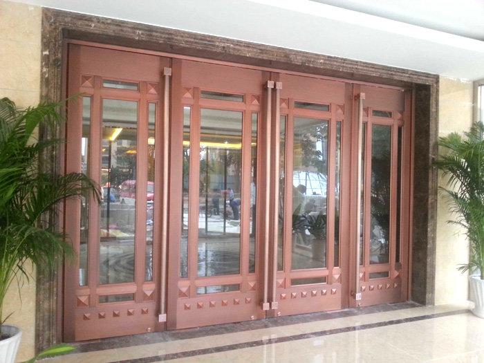 鑫海门窗信誉好的肯德基门销售商商务门型材