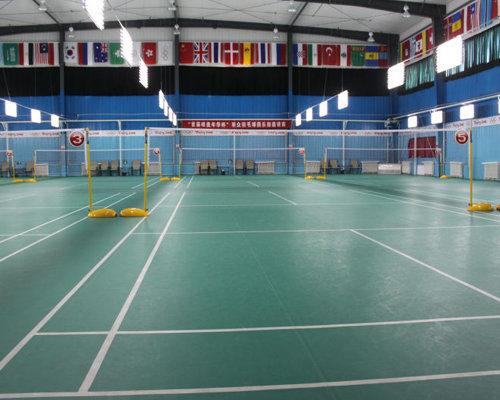 陕西羽毛球场地施工