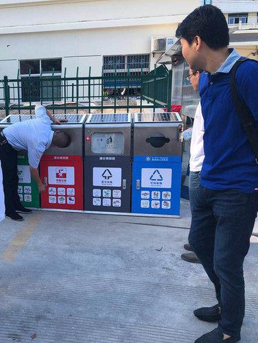 景区太阳能广告垃圾箱厂家