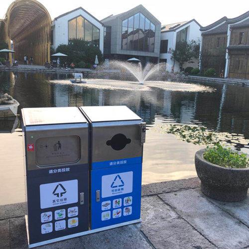广告垃圾箱与城市建设发展相得益彰