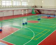西安某学校室内硅pu篮球场
