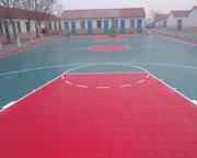 西安某室外篮球场悬浮地板