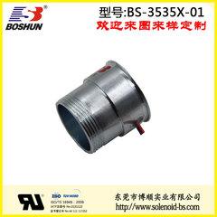 东莞博顺电磁铁厂家供应24V直流电压圆管纺织机械电磁铁吸盘式力量可达7公斤