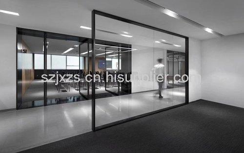 苏州厂房办公室装修中玻璃隔墙