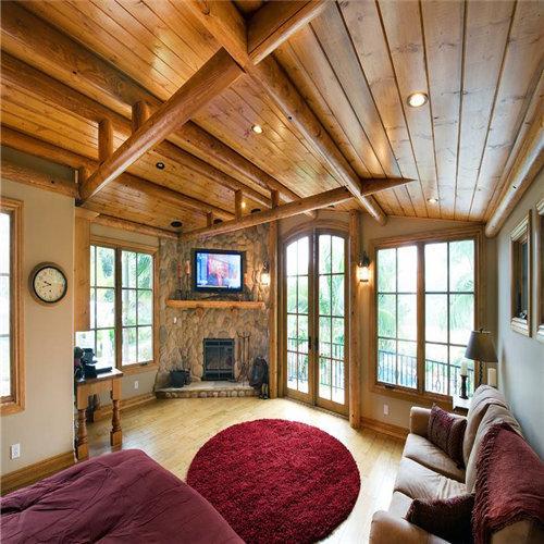 海南木地板安裝-木地板鋪牆上,效果那麽讚