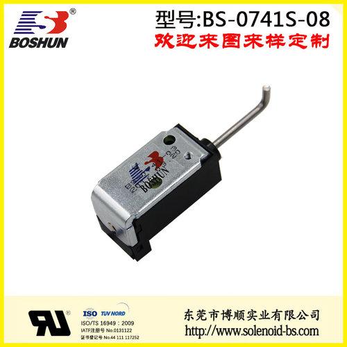 厂家供应推拉式电磁铁直流电压DC12V长时间通电频率经久耐用汽车换挡器电磁铁行程4mm