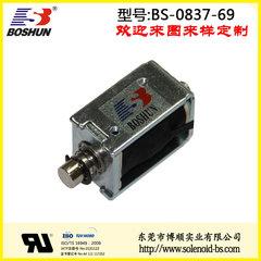 厂家供应推拉式电磁铁直流电压DC12V高寿命长时间通电为40秒的伸缩电磁铁