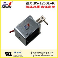厂家供应推拉式电磁铁直流电压DC12V间歇型高寿命的保管箱电磁锁长行程10mm