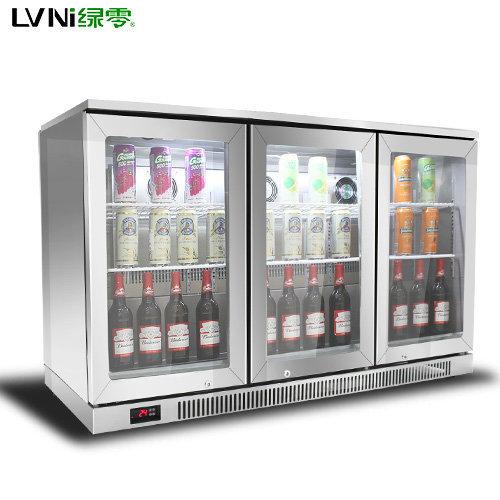 LVNI绿零三门不锈钢风冷啤酒冷藏展示柜