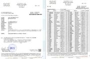 台湾SGS安全性检测报告