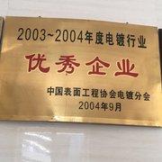 2003-2004優秀企業、電鍍分會