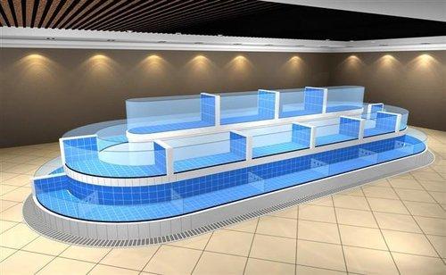 贵州玻璃海鲜池定制